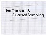 Line Transect and Quadrat Sampling