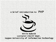 A Breif Introduction to PHP