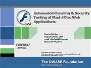 OWASP IL Flash Flex Automated Testing