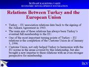Relations between Turkey and the EU