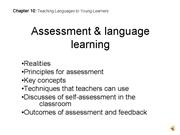 Chap 10 Assessment language learning