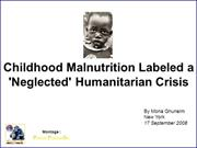 A neglected humanitarian crisis