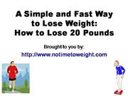 A Simple and Fast Way to Lose Weight - How to Lose