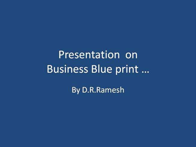 Introduction about business blue print pricing authorstream malvernweather Gallery