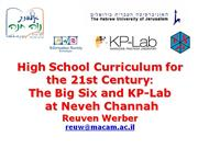 High School Curriculum for the 21st Century3