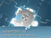 Using authorPOINT Lite