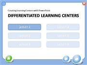 Differentiated Learning Centers