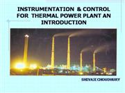 INSTRUMENTATION & CONTROL FOR THERMAL POWER STATIO
