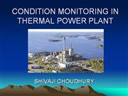 CONDITION MONITORING IN THERMAL POWER PLANT