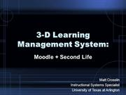 3-D Learning management System