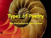 Poetry--Lyrical and Narrative