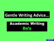 Academic Writing Do's & Don'ts