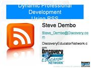Dynamic Professional Development wiht RSS