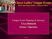 Classy Ladies' Unique Events