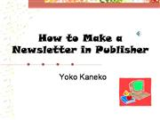How to make a newsletter in Publisher