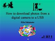 How to download from a digital camera to USB