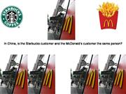Starbucks/McDonalds Customers in China