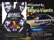 2nd English Presentation, 2 Fast 2 Furious Movie