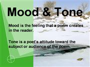 What is a mood in a poem?