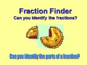 Fraction Finder and 3 Questions