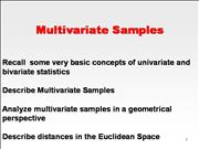 8323 Stats - Lesson 1 - 03 Multivariate Analysis