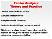 8323 Factor Analysis 2 Theory Application