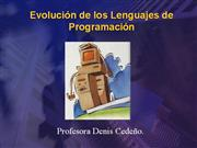 Evolucion de los lenguajes de Programacin