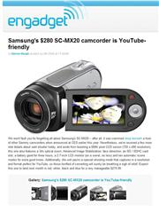 Samsung's $280 SC-MX20 camcorder is YouTube-friend