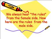 Rules from Men
