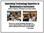 Improving Technology Expertise in Math Instructors