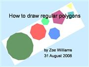 How to Draw Regular Polygons