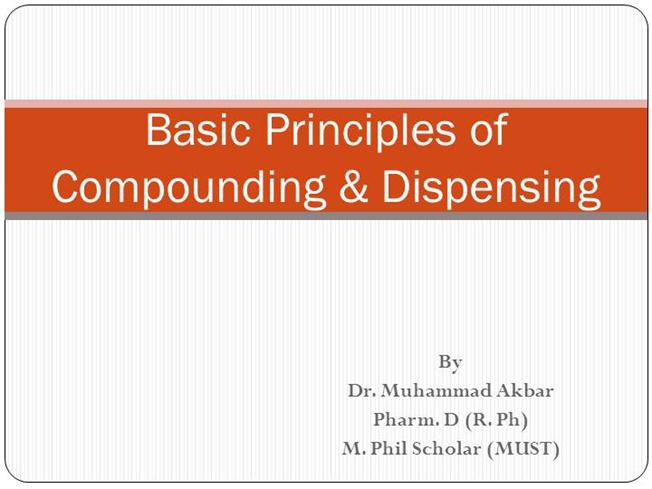 Pharmaceutical Compounding And Dispensing Book