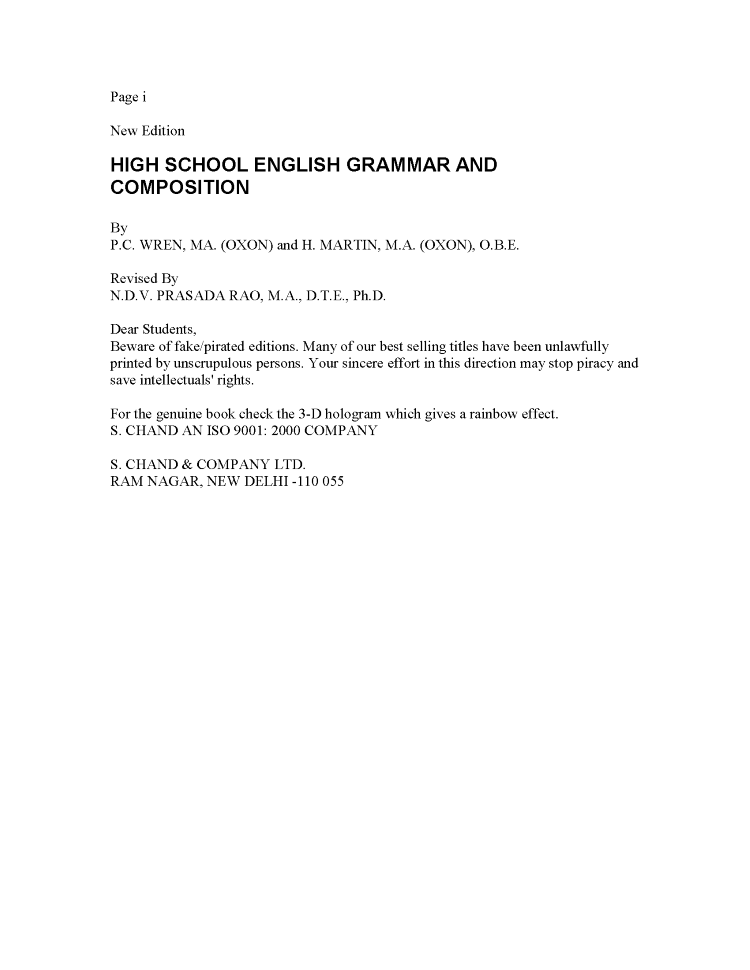 Red And Martin English Grammar Book Pdf
