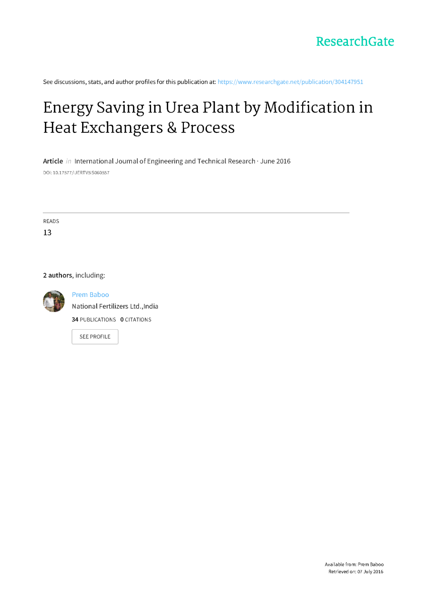 Energy Saving In Urea Plant By Modification Heat Exchanger And Captive Power Flow Diagram Related Presentations