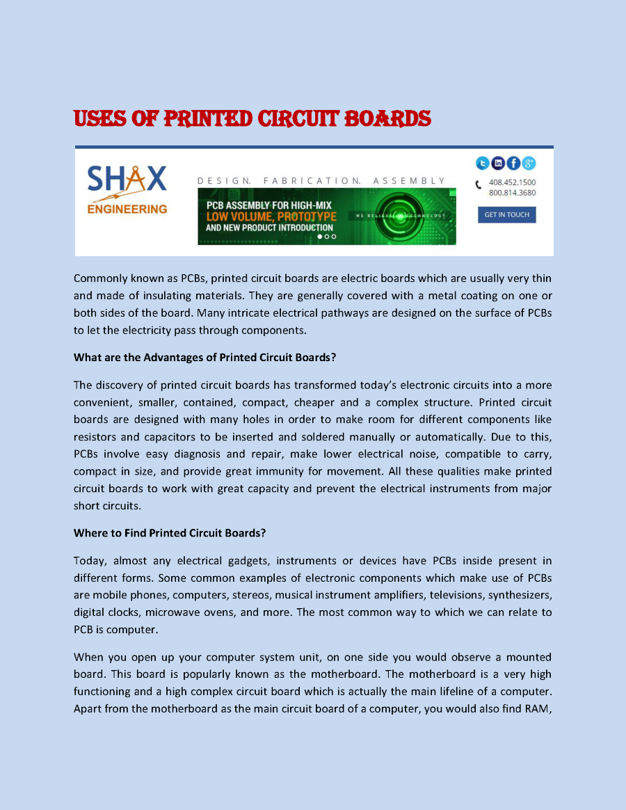Uses Of Printed Circuit Boards Authorstream As Before We Can Copy The Onto A Board And Related Presentations