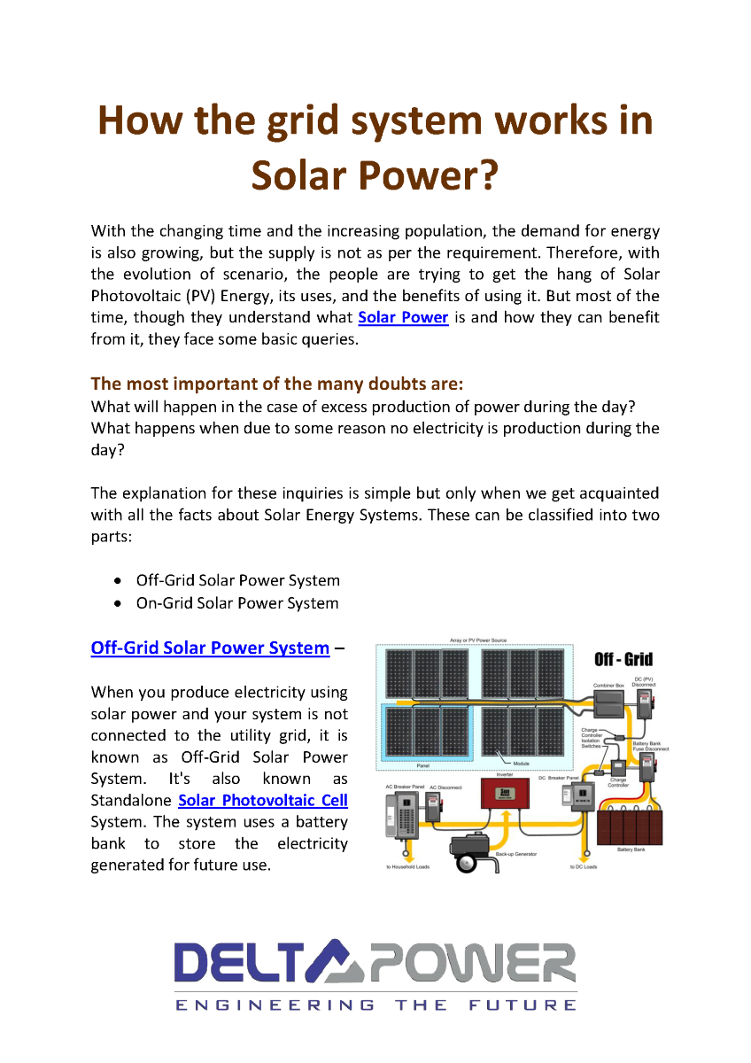 How The On Grid And Off System Works In Solar Power Authorstream Therefore Photovoltaic Panels Of A Powered Use Related Presentations