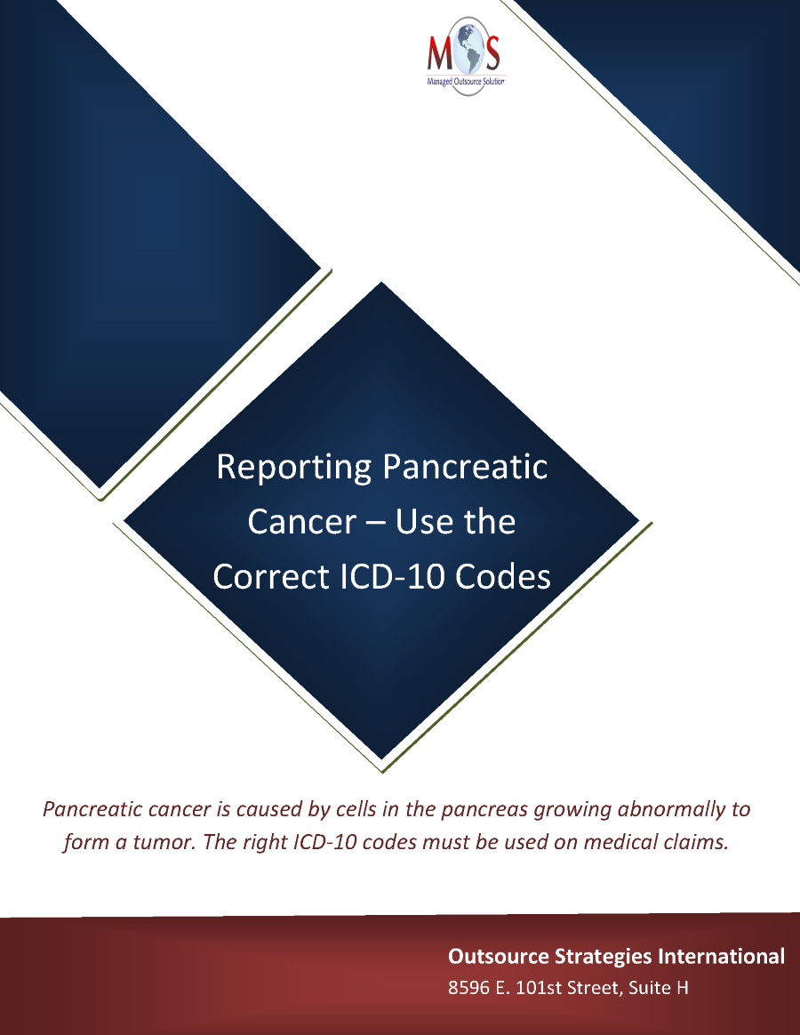 Reporting Pancreatic Cancer Use The Correct Icd 10 Codes Authorstream