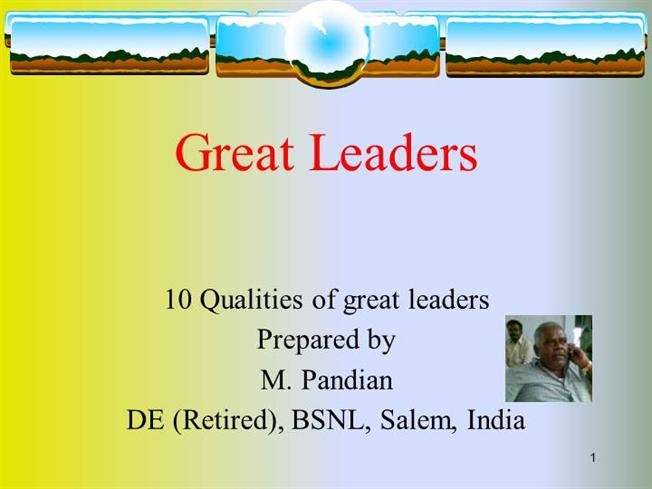 Qualities Of A Leader Pdf