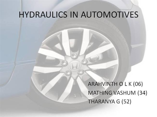 Hydropneumatic suspension ppt