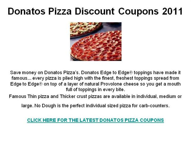 Donatos pizza coupons october 2019